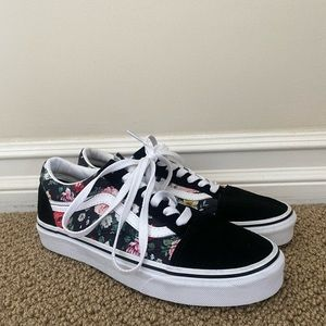 New Old Sckool Floral Vans